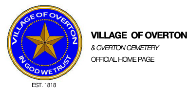 Village of Overton and Overton Cemetery, Official Home Page